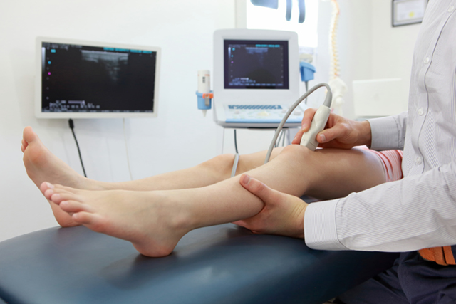 Этапы проведения ультразвукового исследования коленного сустава