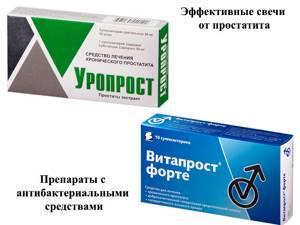 список свечей от простатита с антибиотиком