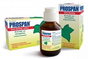 Сироп от кашля Проспан: описание лекарственного препарата