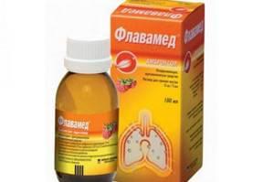 Сироп от кашля Флавамед: инструкция по применению препарата